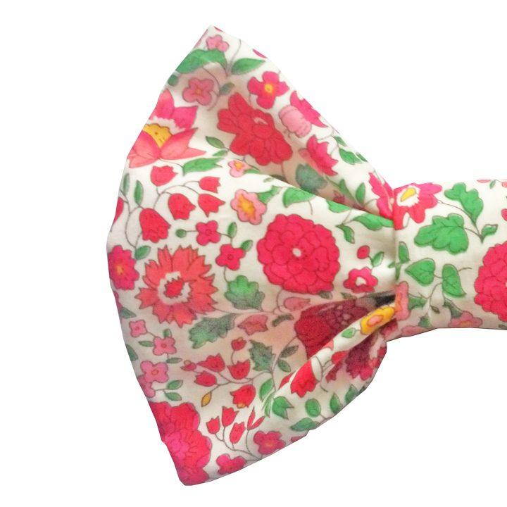 Luxusní motýlek pro psy Adelina Pink Liberty Print