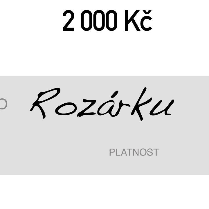 DOGG Dárkový poukaz v hodnotě 2000 Kč