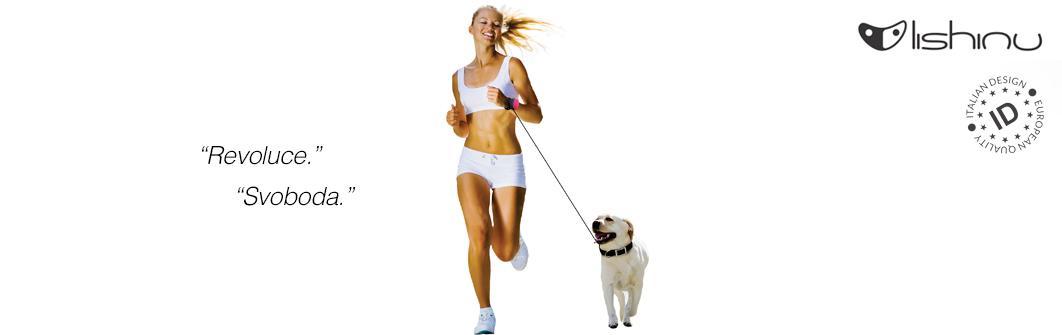 Hands-free vodítka Lishinu Original. Běhání a sportování se psem.