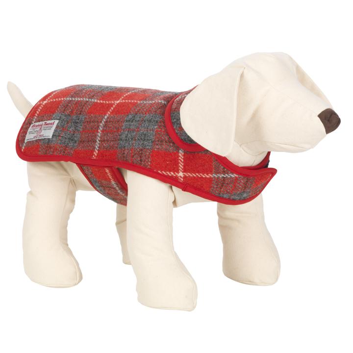 Luxusní kabát pro psy Hoxton Tartan Harris Tweed
