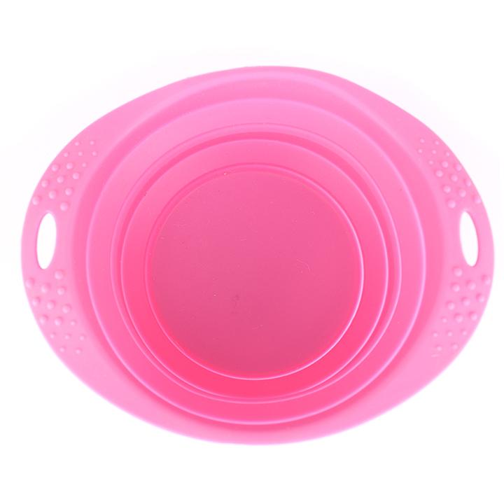 Růžová cestovní miska