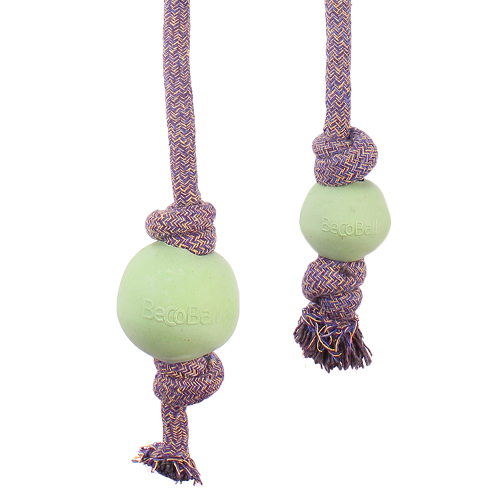 Zelený míček s lanem Přines!
