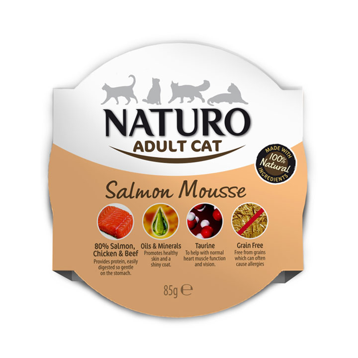 NATURO Cat Lososový mousse