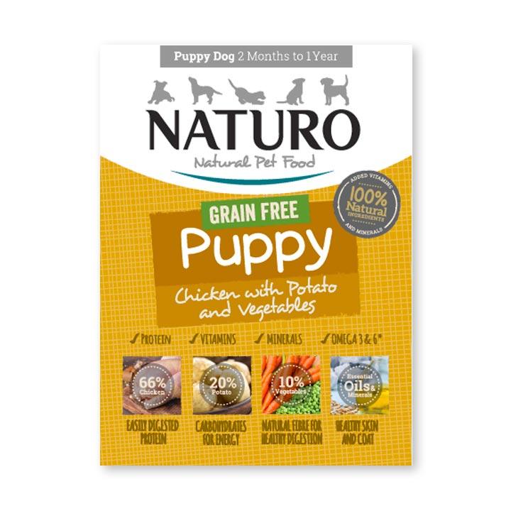 Naturo Puppy Grain Free Kuře s bramborami 150 g