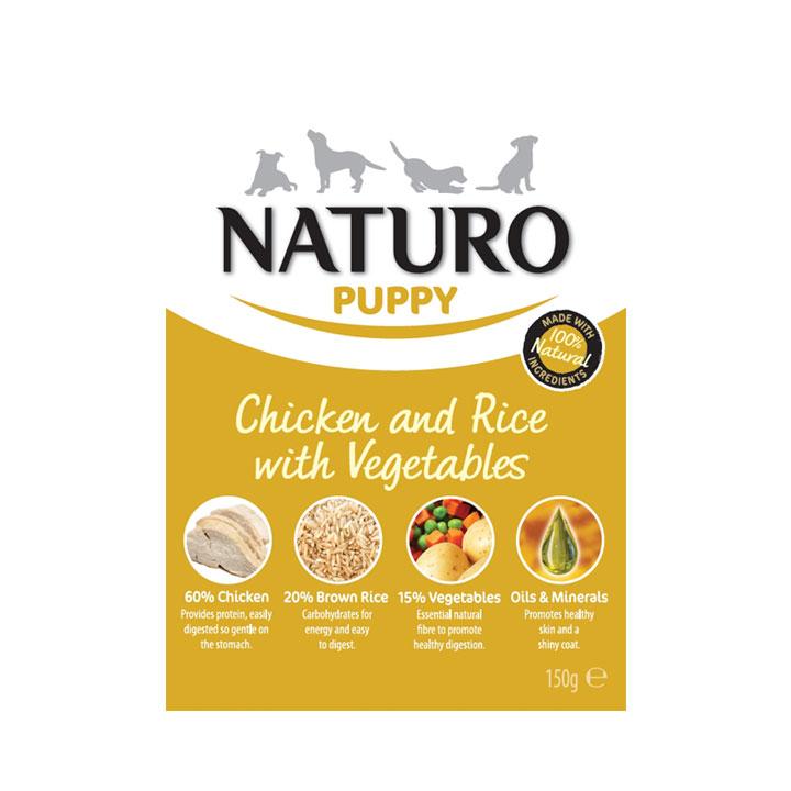 NATURO Puppy Kuřecí s rýží a zeleninou