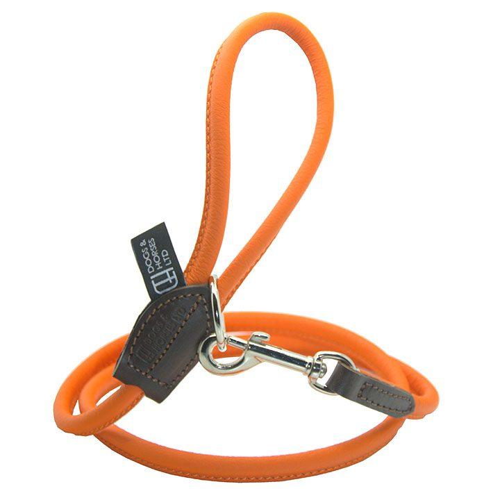 Vodítko Rolled Leather Orange