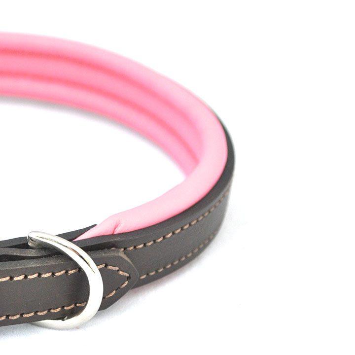 Obojek Padded Leather Pink