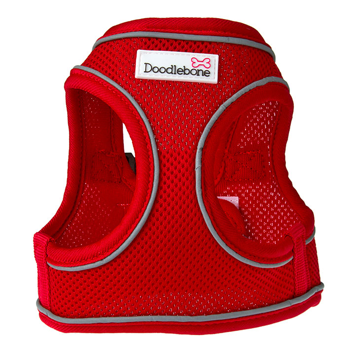 Doodlebone Postroj Airmesh Snappy Red