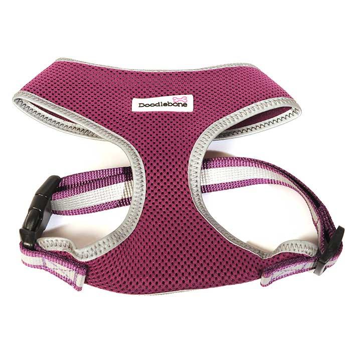Reflexní postroj Airmesh Purple pro psy pre psov Doodlebone