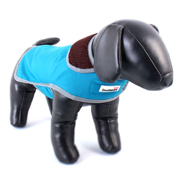 Kabát Drysie Blue pro psy pre psov Doodlebone