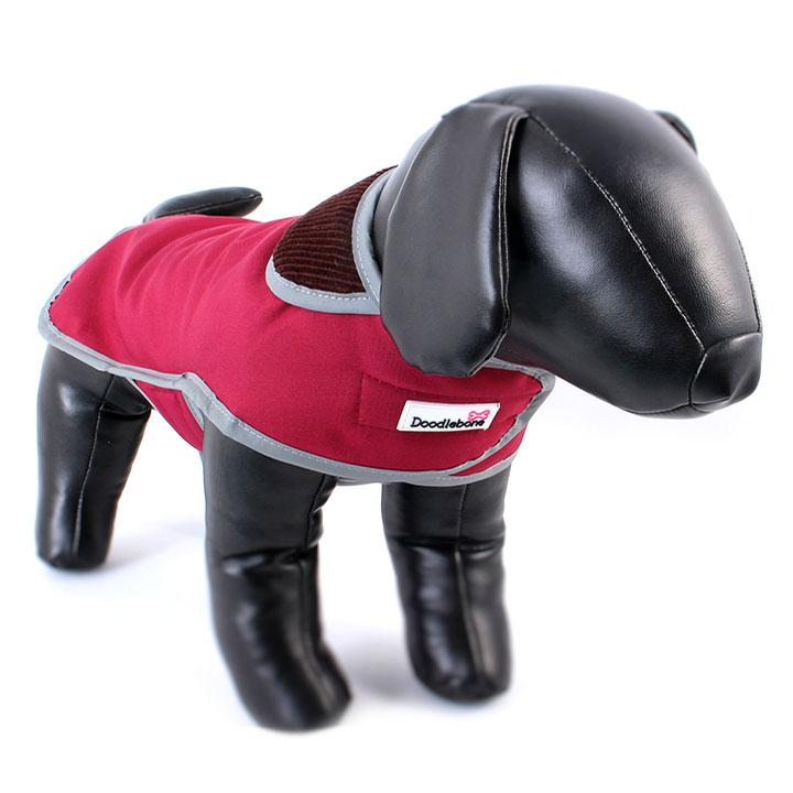 Kabát Drysie Red pro psy pre psov Doodlebone