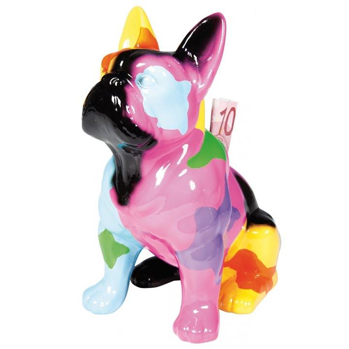 Colour Dog dekorace mops buldoček