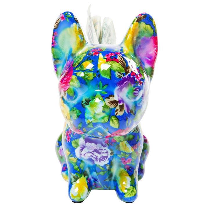 Dog Fiore Blue dekorace mops buldoček