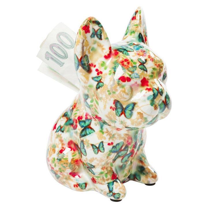 Dog Fiore White dekorace mops buldoček