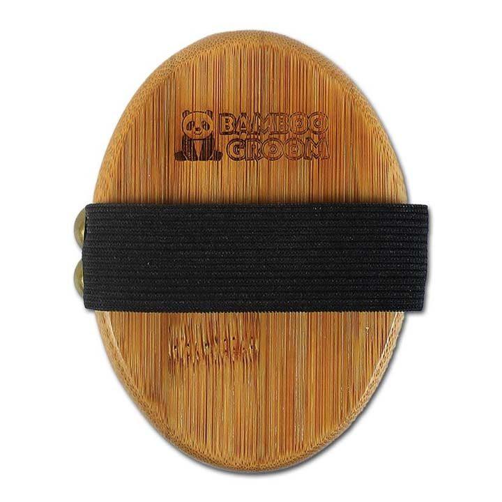 Bambusový kartáč pro psy s pryžovými štětinami