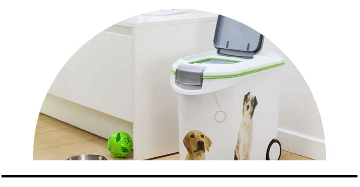 Kontejnery zásobníky na krmivo granule pro psy