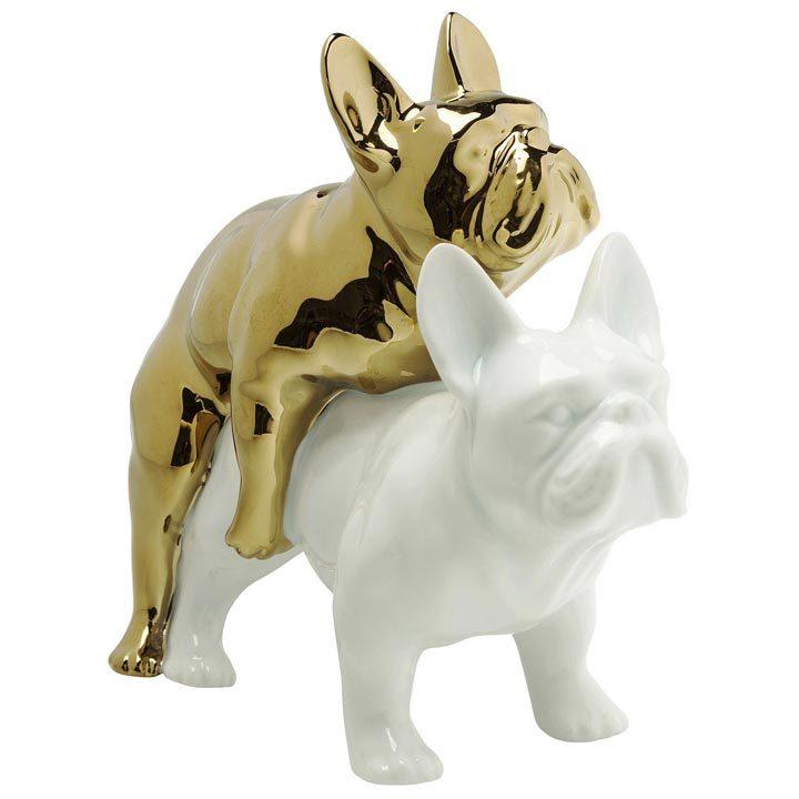 Love Dogs dekorace Kare francouzský buldoček buldok mops