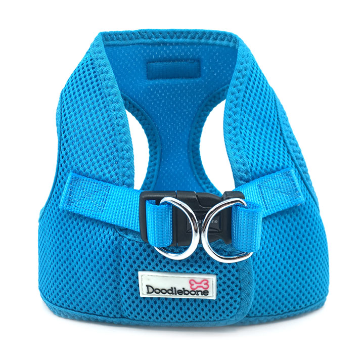 Postroj pro psy štěňata Airmesh Snappy Neon Blue