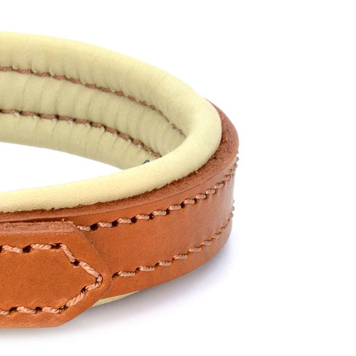 Kožený obojek Dogs and Horses Padded Brown designový luxusní pro psy