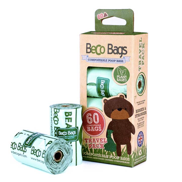 Beco Compostable Poop Bags. Kompostovatelné sáčky na psí hovínka.