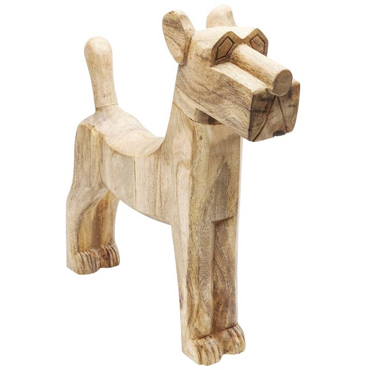 Dřevěná dekorativní figura psa Struppi