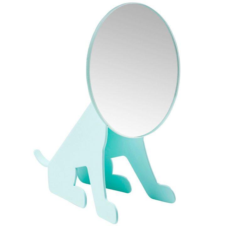 Zrcadlo Dog Face Mint dekorace pes