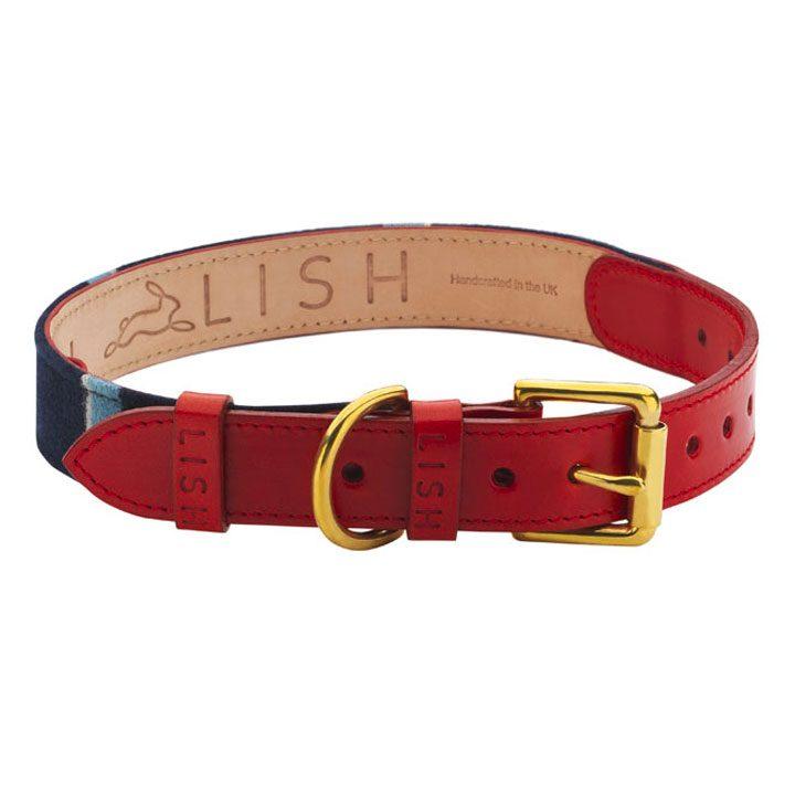 Luxusní obojek pro psy. Ruční výroba ve Velké Británii. Love My Dog. LISH