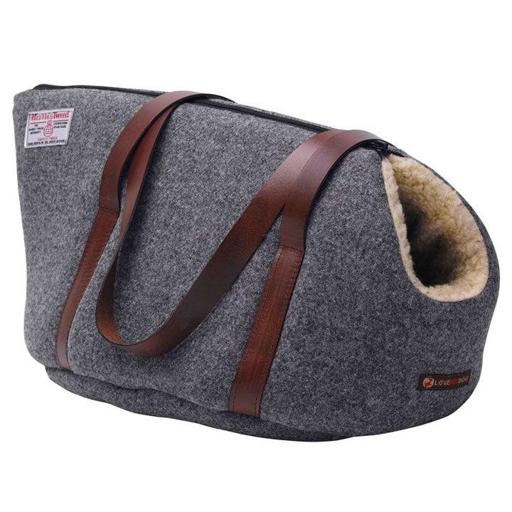 luxusní Cestovní taška pro psy Daplyn Harris Tweed