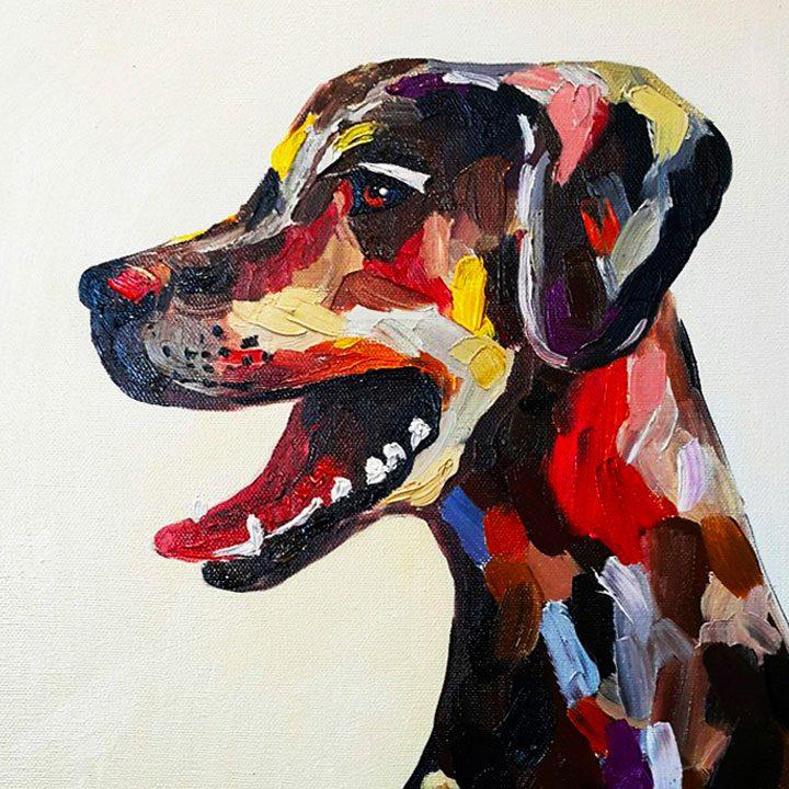 Obraz psa na zakázku