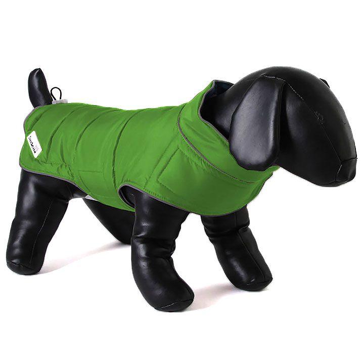 Oboustranná bunda pro psy Green / Orange pro psy Doodlebone