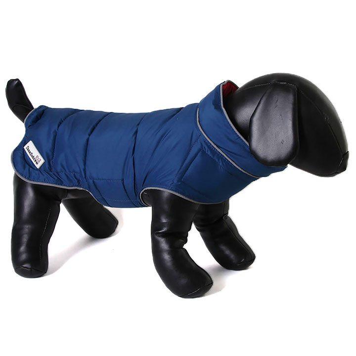 Oboustranná bunda pro psy Raspberry / Navy pro psy Doodlebone