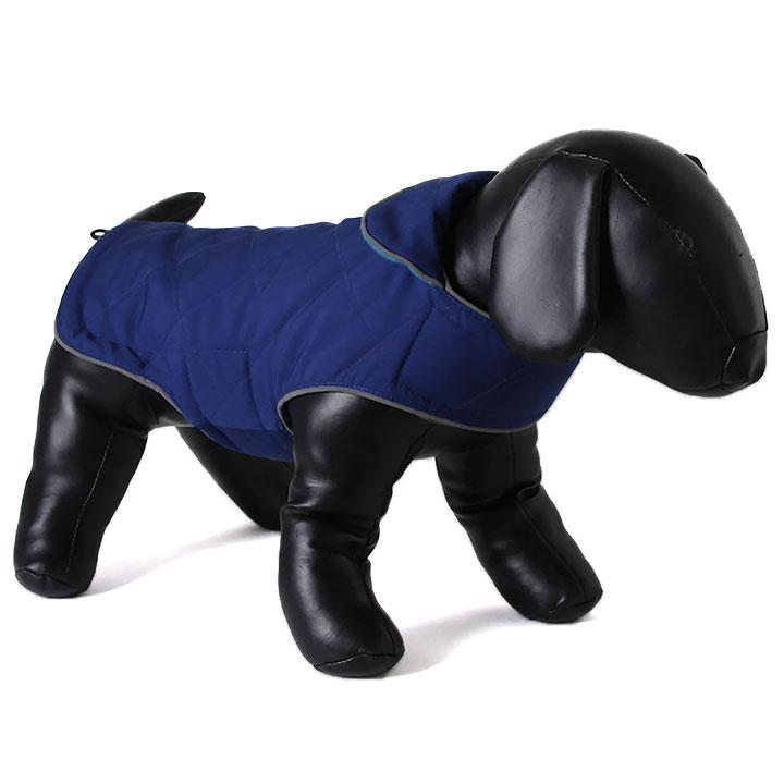 Oboustranný kabát Tweedie Blue / Turquoise pro psy Doodlebone