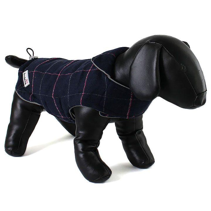 Oboustranný kabát Tweedie Raspberry / Navy pro psy Doodlebone
