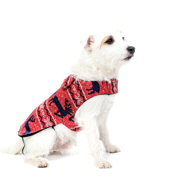Kabát se soby svetr pro psy Funky Dog vánoční vánoce