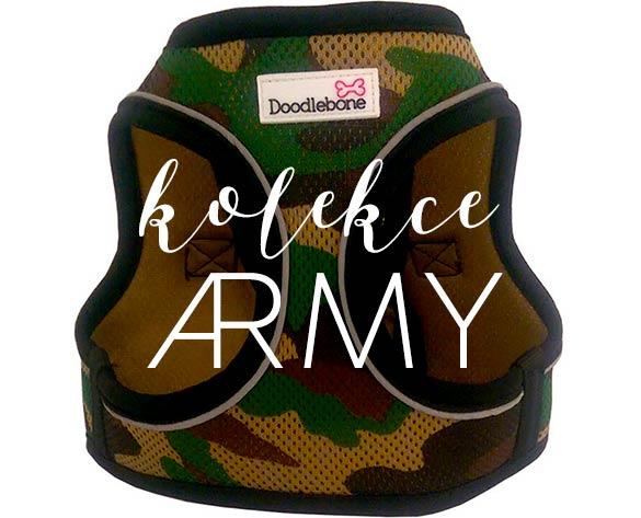 kolekce army maskáč obleček pro psy