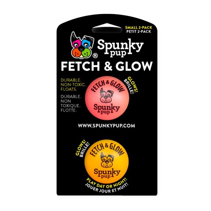 Svítící míček 5 cm 2 ks, mix barev pro psy