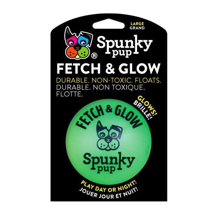 Svítící míček 9 cm Green pro psy