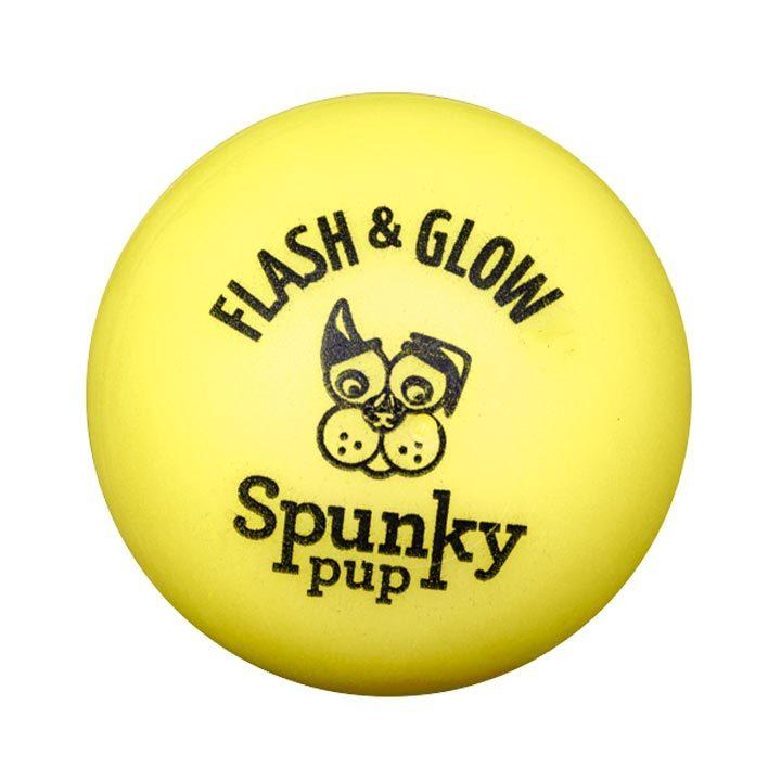 Blikající míček pro psy 7 cm Yellow