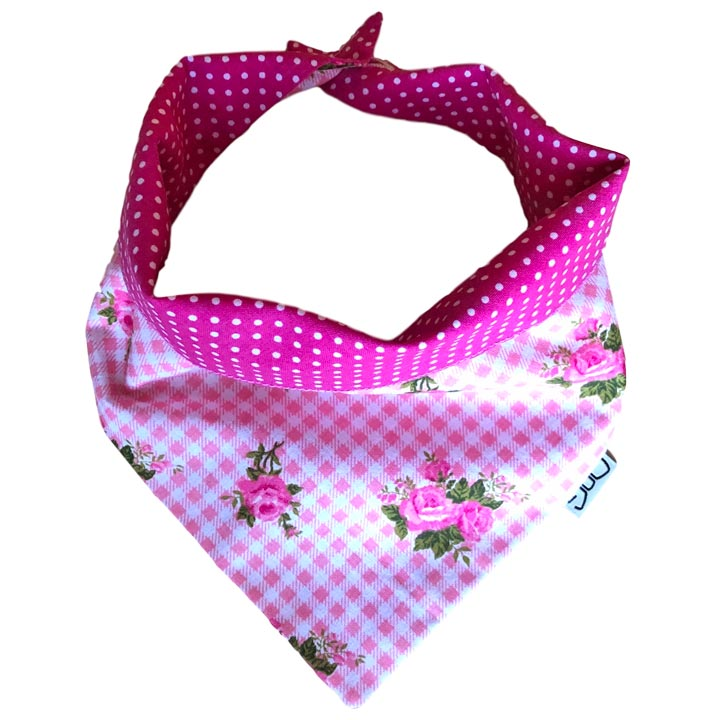 Šátek Dots & Stripes Pink pro psy