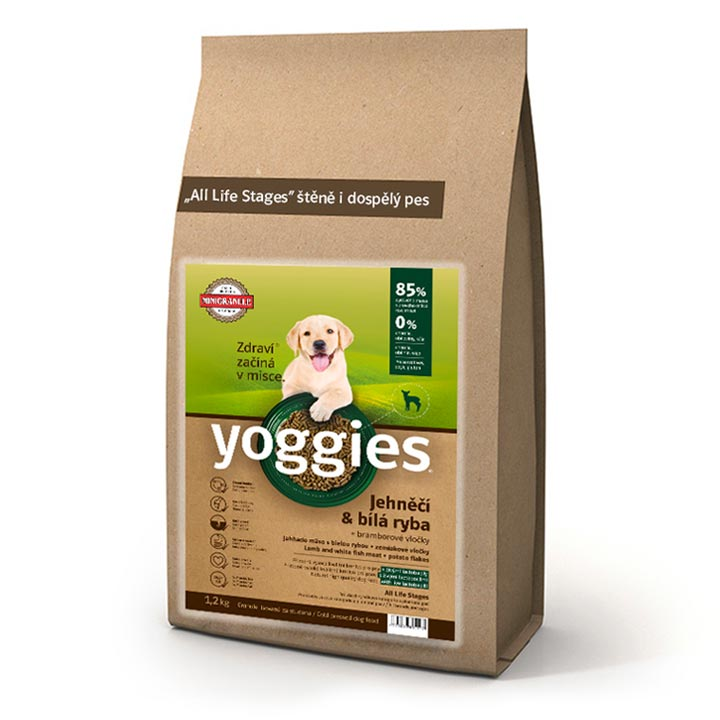 Minigranule pro malé psy Yoggies Jehněčí s rybou