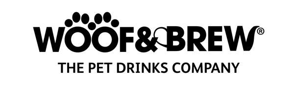 Woof & Brew logo nápoje pro psy
