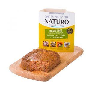 Naturo Grain Free Mini Kuře s bramborami vanička pro psy