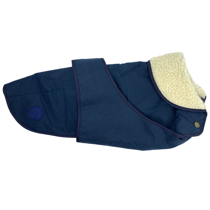 Kabát Indigo Blue luxusní obleček pro psy zimní nepromokavý fetch follow