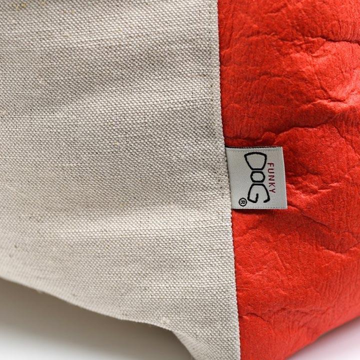 Pelíšek pro psy Piña Orange eko lokální vyrobeno v česku