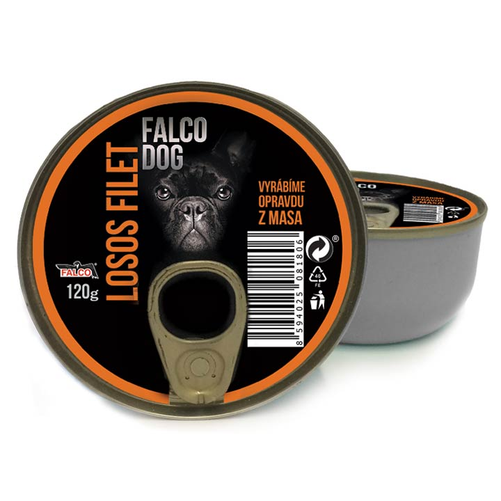 Falco Dog 100% Losos filet 120 g