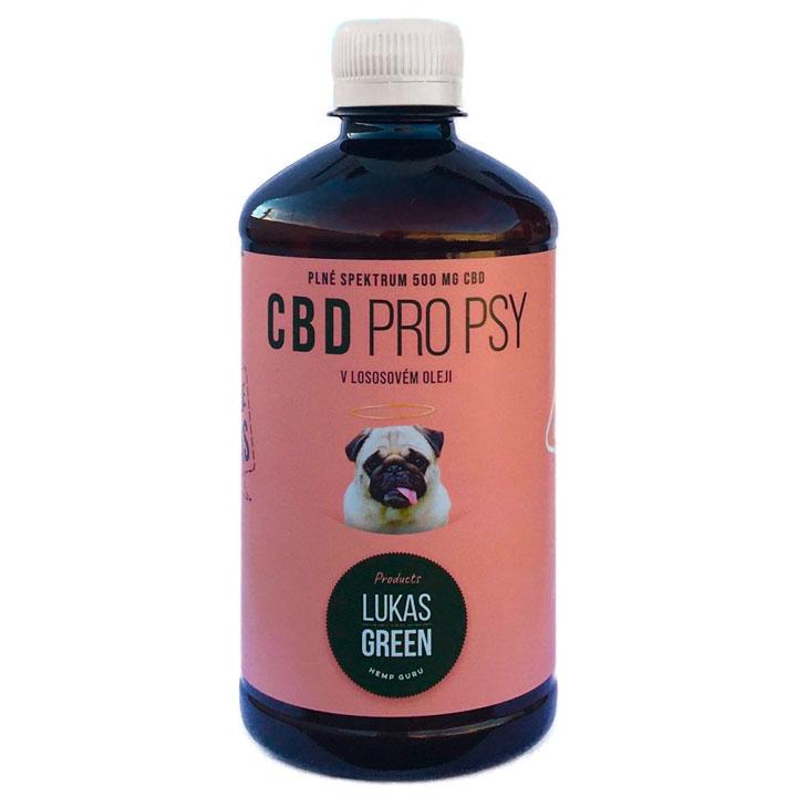 CBD z konopí v lososovém oleji pro psy Na bolest, úzkost, artritídu