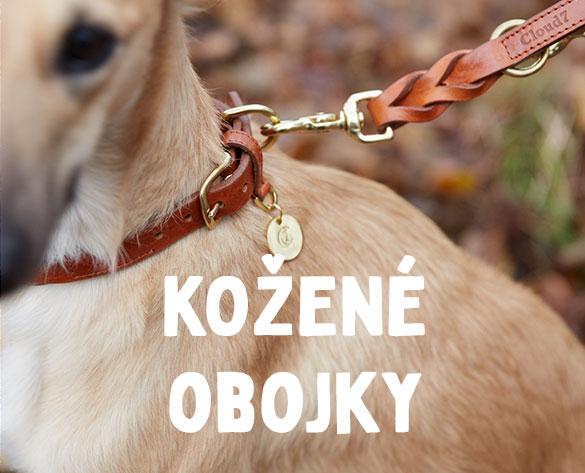 Kožené obojky pro psy