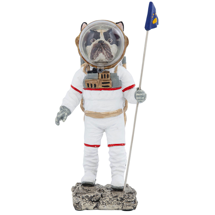 Space Dog 26 cm KARE socha buldoček boston teriér