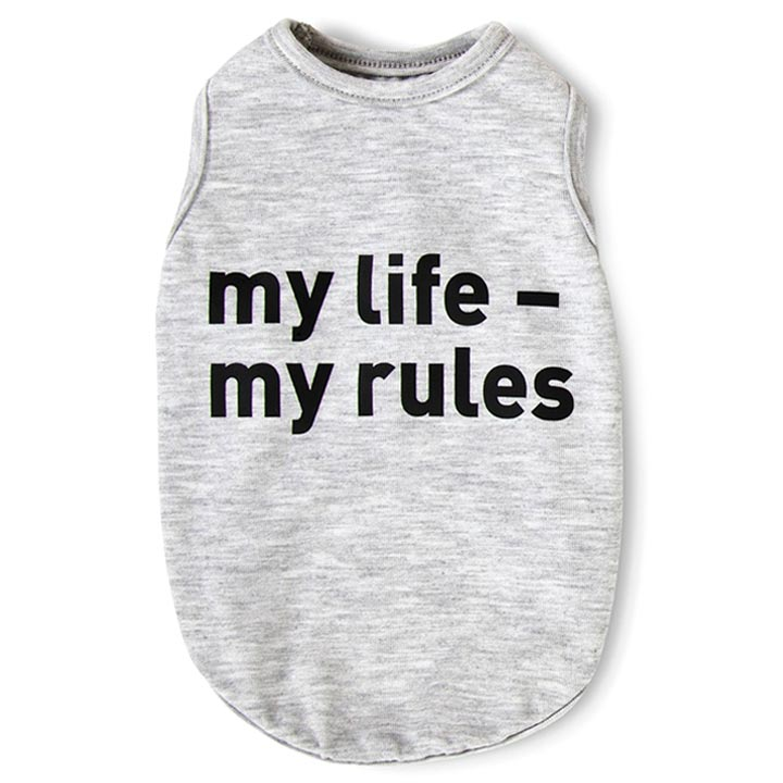 Tričko My Life, My Rules Tank Top Grey