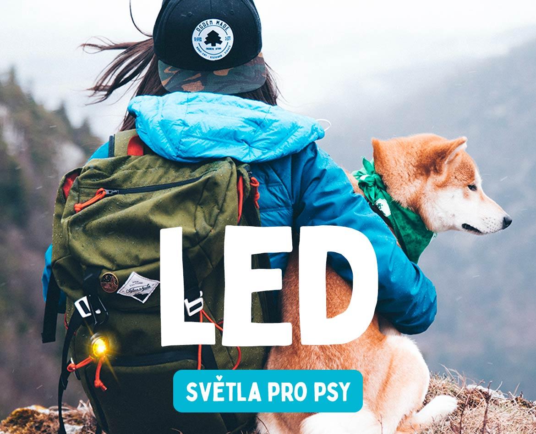 LED světla na obojek postroj pro psy